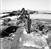 The wreakage of the Egyptian Air Force damaged during the first day of 1967 War.
