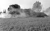 Fire destructed a huge quantity of hay in Kibbutz Hazorea.: