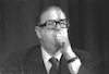 Abba Eban in the Knesset.: