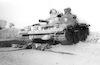 A Syrian T54 tank hit in battle – הספרייה הלאומית