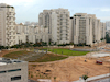 Givatayim with its new park near the mall.: