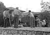 הצבת שרידי המשוריין מהשיירות לירושלים – הספרייה הלאומית