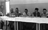 """ביקור יגאל אלון שר העבודה במוע""""א גלבוע – הספרייה הלאומית"""