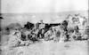 חיילים גרמנים בביקור אצל בדואים (אחד החיילים אולי שנלר) – הספרייה הלאומית