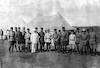 קבוצת מפקדים טורקים וגרמנים. מזוהה קרס פון קרסנשטיין ועלי פואד – הספרייה הלאומית