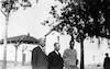 """משמאל: שלמה הלל אחראי שכבה, קראוזה מנהל ביה""""ס, אליעזר ווין מהחנך מ""""י 1931 – הספרייה הלאומית"""