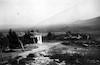 חצר תל חי מבט ממחנה עליית הנוער ליד. למטה בעמק הכפר חלסה (הים קרית שמונה) – הספרייה הלאומית