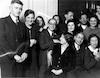 במסיבת סיום לימודי הרפואה, ברלין 1934. רודי משמאל – הספרייה הלאומית