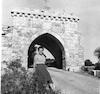 שער הכניסה למנזר על הר תבור, עמדת רות – הספרייה הלאומית