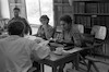 בחדר צוות המורים של וסד גלבוע פזי, גניה לוין, בתיה – הספרייה הלאומית