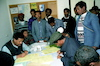 New immigrants from Ethiopia in their immigration centre at Hulda.