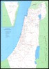 Map of the kibbutzim in Israel
