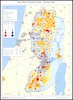 West Bank Population Map; October 2005 /; Vered Shatil.