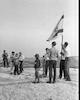 ישראל אלדד במסע בחירות בגבעת שאול שבירושלים. אלדד הוא מועמד לכנסת – הספרייה הלאומית