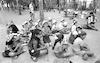 Scooll children spending their sommer vacation in a sommer camp at Hayarkon Park, Tel Aviv – הספרייה הלאומית