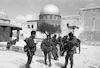 IDF units patroling on Mt Scopus next to the Mosques Omar and el-Aksa – הספרייה הלאומית