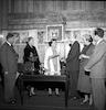 רחל ינאית בן צבי בצריף הנשיא ירושלים – הספרייה הלאומית