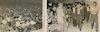 """אלבום. כנס עליית התימנים בפתח תקוה, נערך באמפיתיאטרון """"אורון"""". משתתפים נכבדי העיר, בני העדה התימנית דוד בן גוריון, ישראל ישעיהו, פנחס רשיש, יוסף ספיר. צלם ב. צור."""