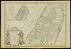 Carte de la Terre des Hebreux ou Israelites partagee selon l'ordre de Dieu aux douze tribus;Dressee...sur les cartes, et manuscrits des Srs Sanson. Par le Sr Robert G.Delahaye sculpsit – הספרייה הלאומית