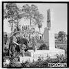 הסרת הלוט ממצבת הזיכרון לנופלים בבית דגון, 1949 – הספרייה הלאומית